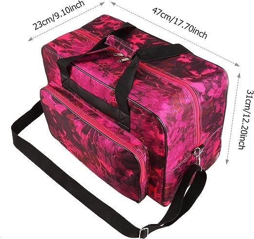 Meditool Bolso para Máquina de Coser Funda para Máquina de Coser Impermeable Portátil y Ligero 47 x 23 x 31 cm (Rojo): Amazon.es: Hogar