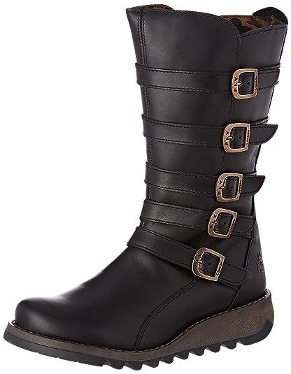 Fly London Myso, Boots femme - Noir (Black), 38 EU (6 UK) (7 US)