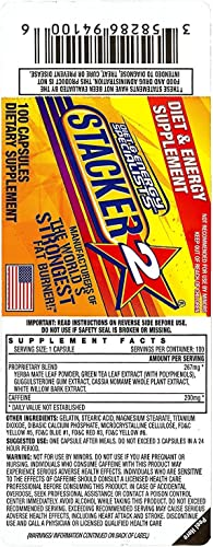 Stacker 2 Ephedra Free, Bitter Orange Free, Fat Burner, 100-Count Bottle