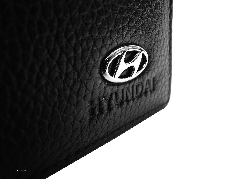 Amazon.com: Hyundai portafolios de piel | ID ranura | 3 ...