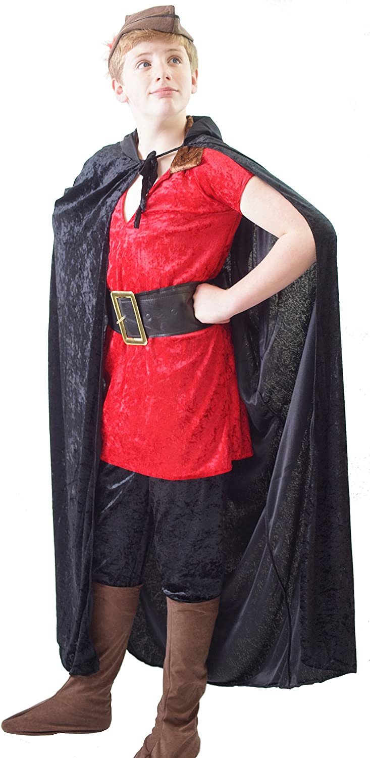 World Book Day-Beauty and the Beast-Stage GASTON COSTUME with CAPE /& HAT