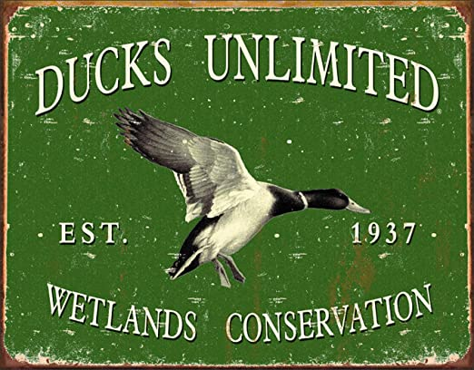 Desperate Enterprises Ducks Unlimited Conservation Today Tin Sign 12.5 W x 16 H