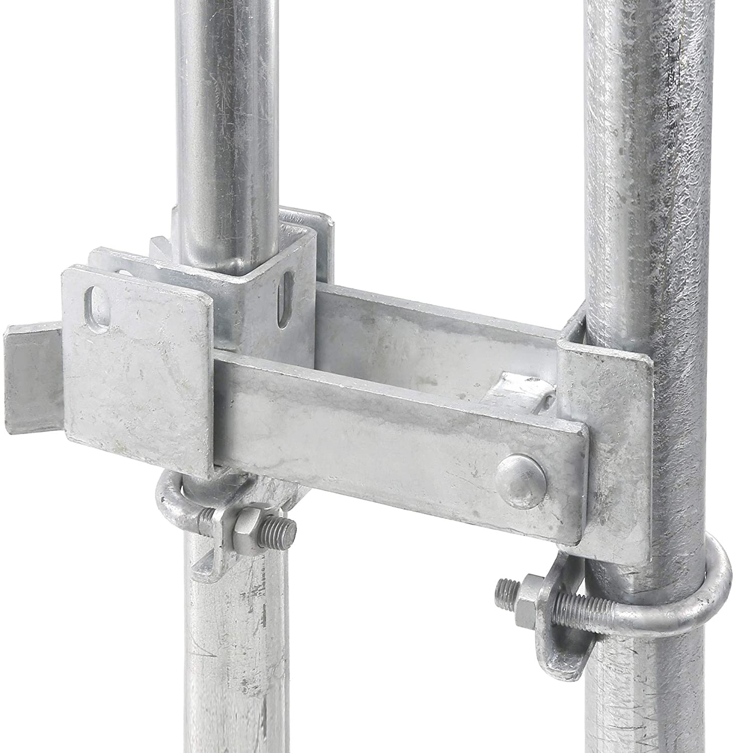 Chain Link Double Gate Latch for 1-3//8 Gate Frames Latches Two Gates Together Without The Need of a Drop Rod Chain Link Residential Strong Arm Double Gate Latch