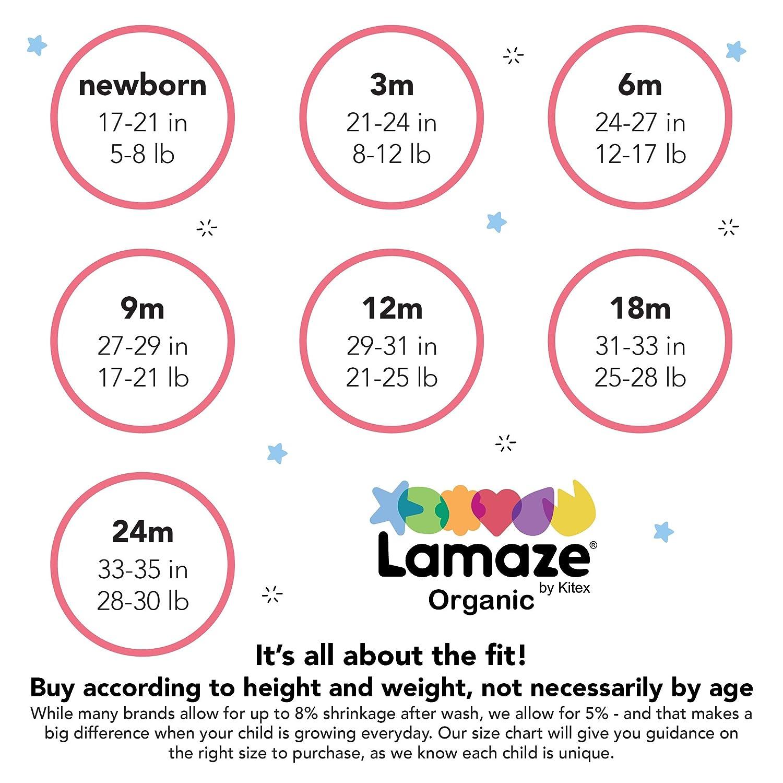 LAMAZE Infant Baby Organic 5 Pack Shortsleeve Bodysuits