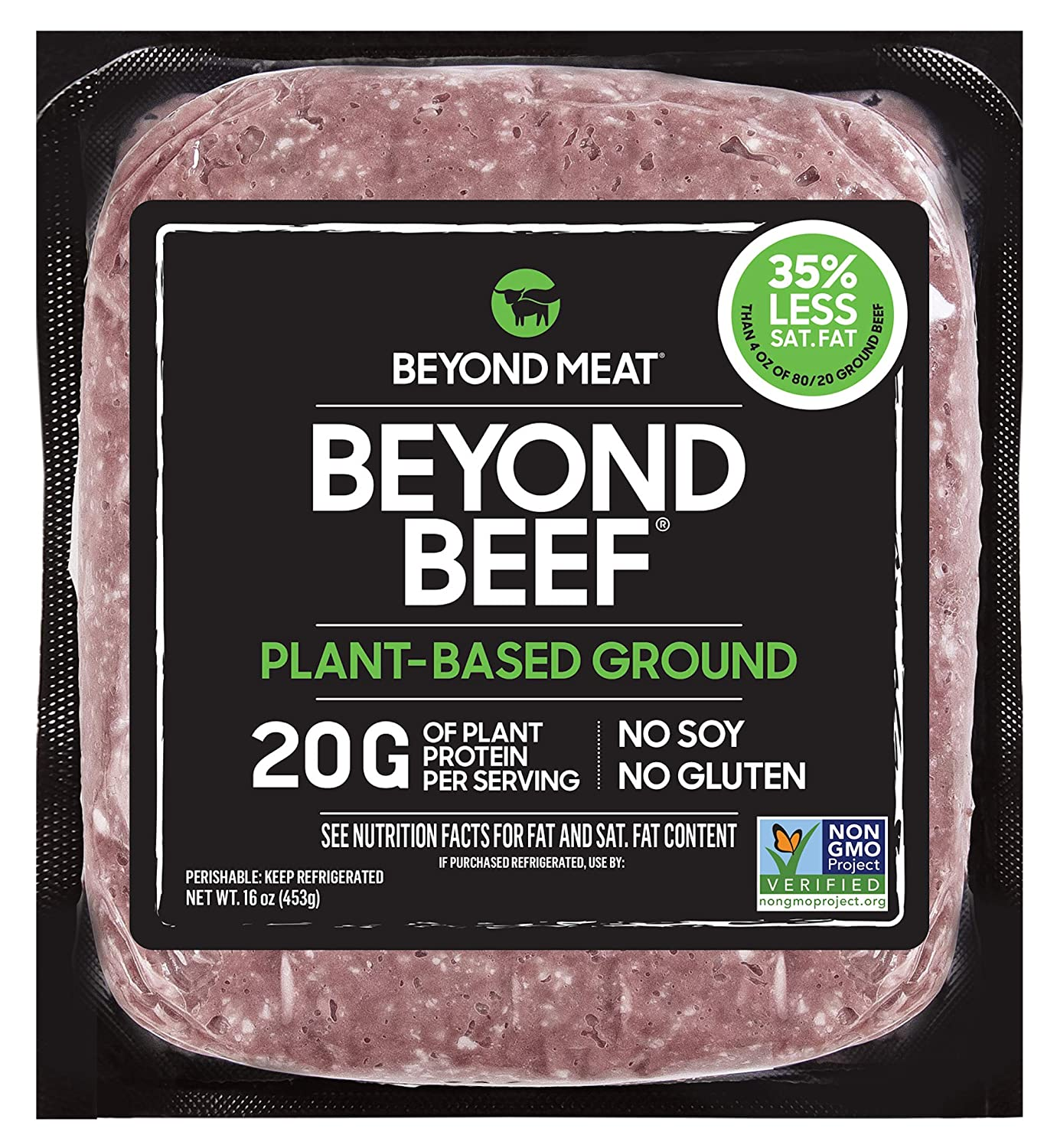Beyond Meat Ground Beef- Plant Based Meat Alternative, Heat & Eat - Frozen, 16 Ounce Package
