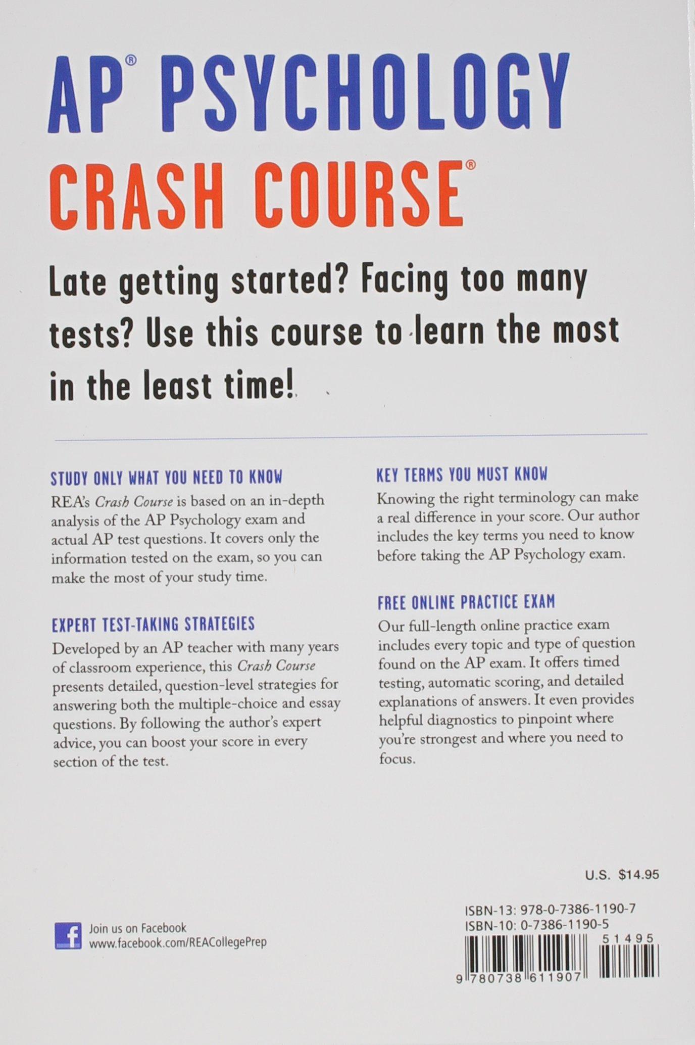 Amazon com: AP® Psychology Crash Course, 2nd Ed , Book +