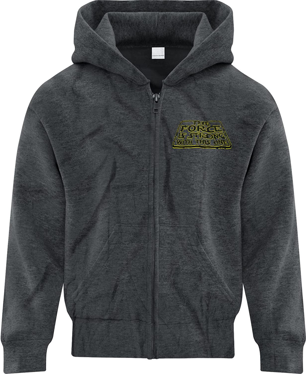 BSW Youth Boys The Force Is Strong With This One Star Wars Zip Hoodie 1257-2HSYZ
