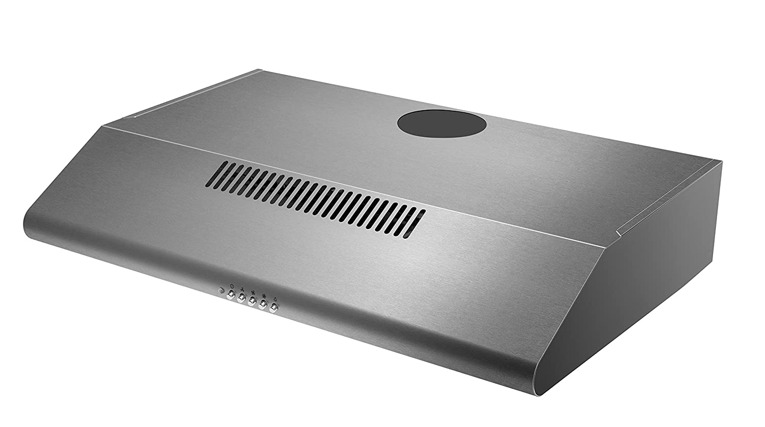 Cookology Visor Cooker Hood | 60cm Stainless Steel Extractor Fan Rear or Top Vented STAND600SS