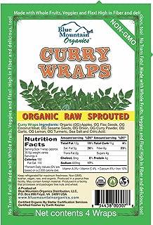 product image for Blue Mountain Organics, Raw, Vegan, Paleo, Organic Curry Wraps (4 wraps), 5.5oz (156 g)
