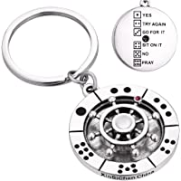 Key Chain Key Ring Spinning Key Chain dice Game Decision Maker Stress Reliever Fidget Toy Key Chain for Men Key Chain…