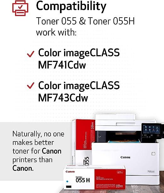 Canon Original Toner Cartridge 055 Cyan 3015c001 1 Pack Für Canon Color Imageclass Mf741cdw Mf743cdw Mf745cdw Mf746cdw Lbp664cdw Laserdrucker Bürobedarf Schreibwaren