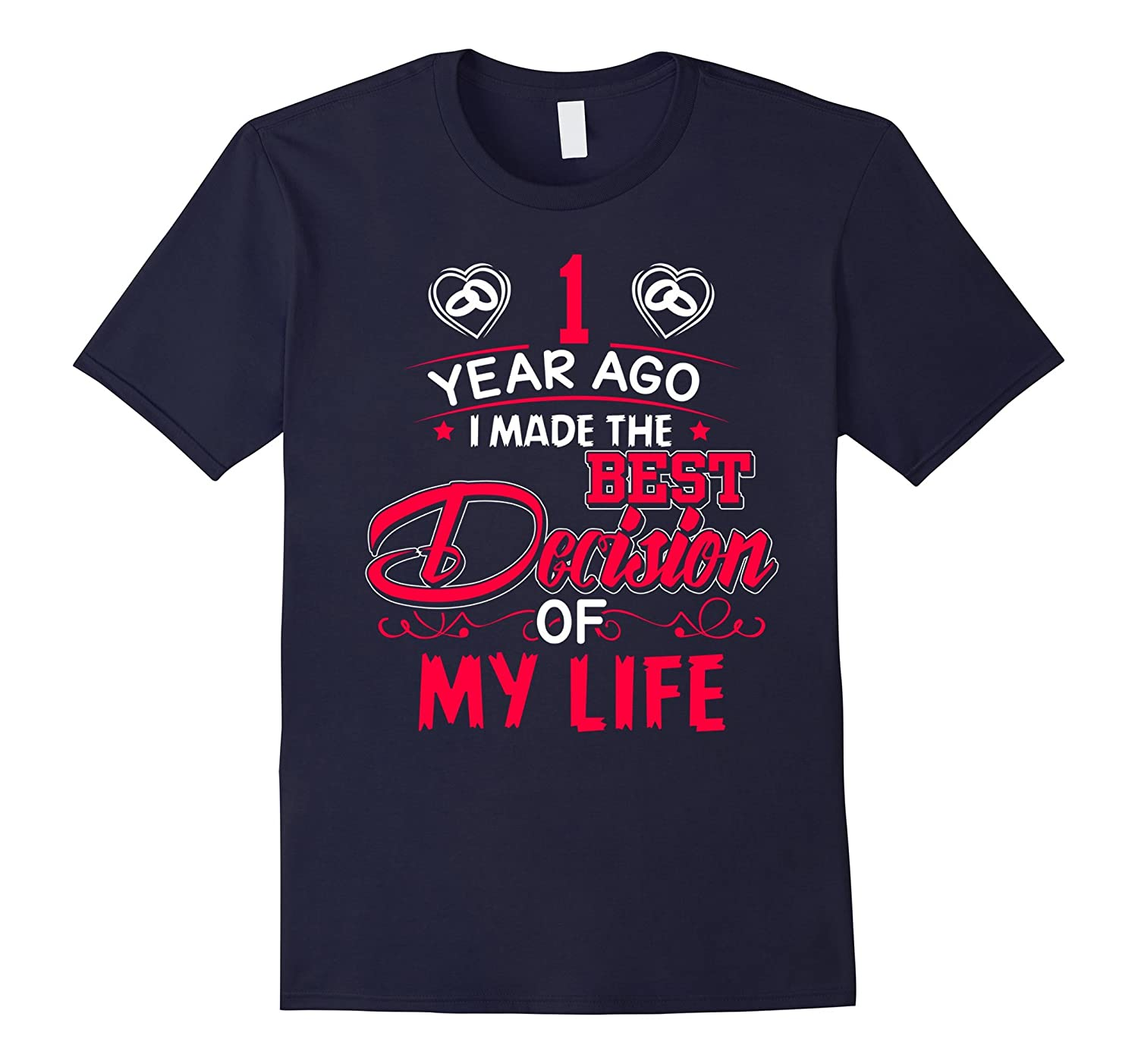 1st Wedding Anniversary Gifts. Best T-Shirt For Couples.-TH