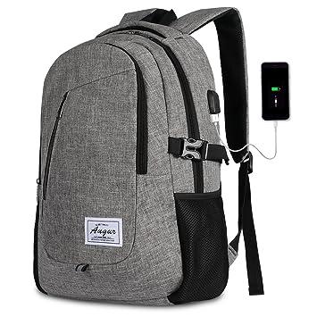 da4579688b21 AUGUR Rucksack Laptop mit usb ladeanschluss und 15.6 laptopfach für Business  Arbeit Schule Universität Herren 35L