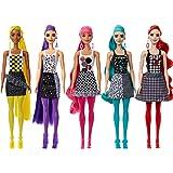 Barbie Fashionista Color Reveal Colores Muñeca para niñas de 3 años en adelante con 4 Accesorios Sorpresa