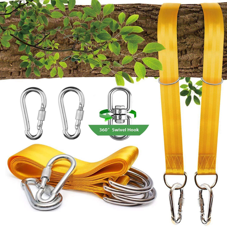 【着後レビューで 送料無料】 NEW Tree Swing Straps(1.5m),2 Sets Straps(1.5m),2 Heavy Duty Straps swing-SAFE Swing/Toddler with Carabiners +Swivel/Spinner-Holds 1000kg-Swing & Hammock ropes and hangers to hang Tyre,Saucer,Web Swing/Toddler swing-SAFE & EASY Hanging Kit B07CPZ6FWC, ジェムスター(宝石の専門店):40ba66c8 --- munstersquash.com