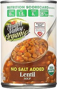 Health Valley Organic Lentil Soup, 15 Ounce -- 12 per case.