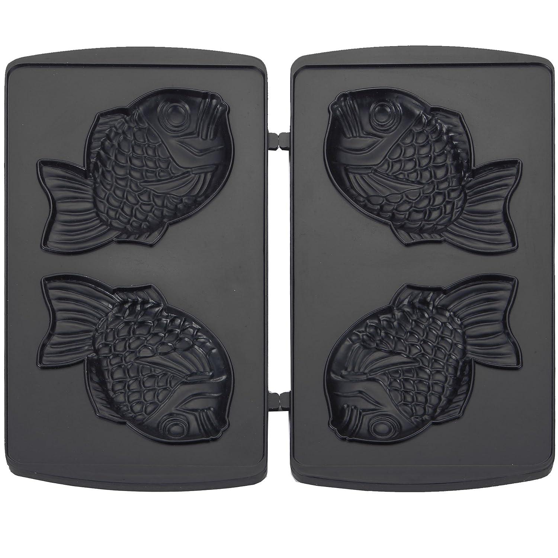 Syntrox Germany Taiyaki Maker japonais pâtisseries en forme de poisson CHEF Maker 1300W Fish SM avec plaques amovibles