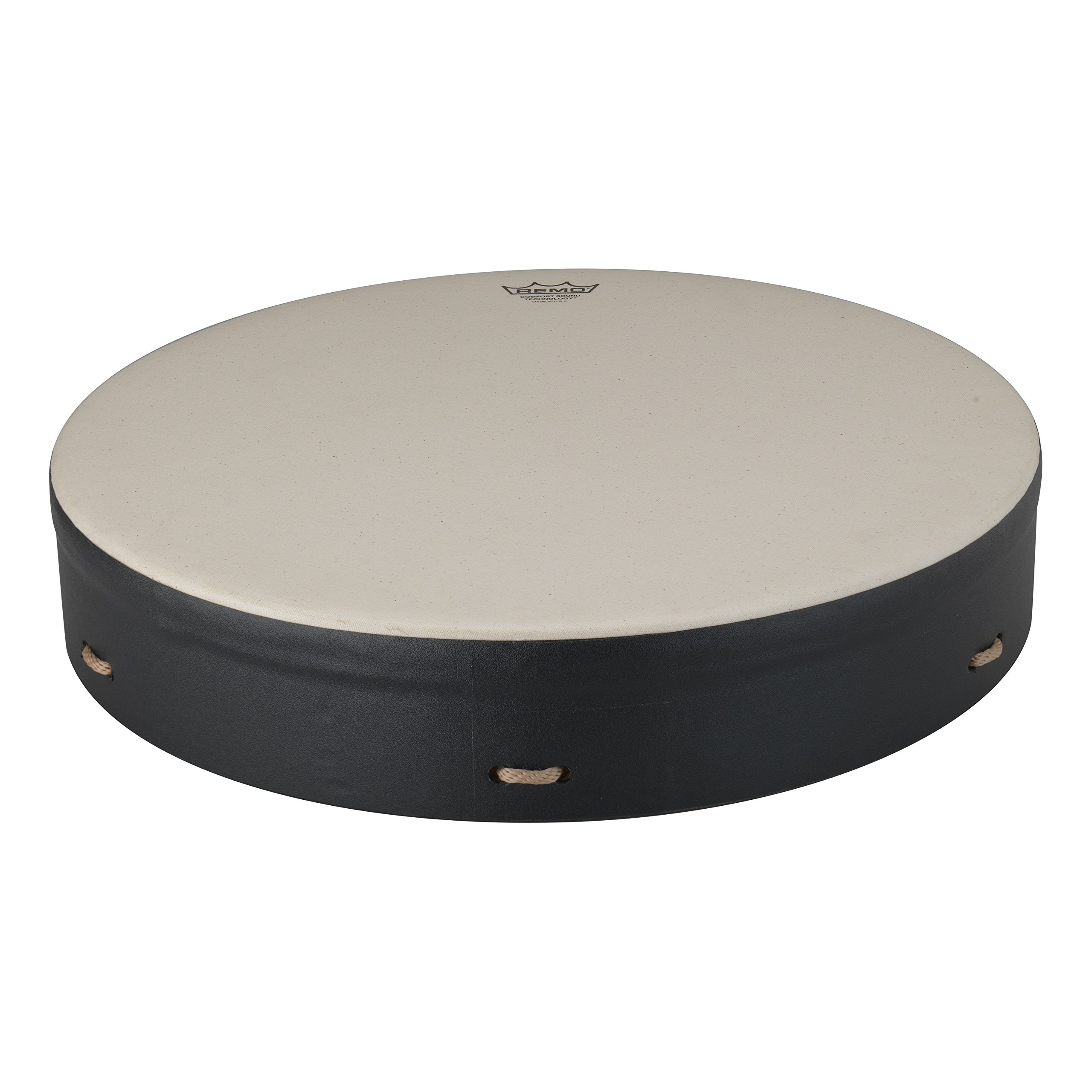 Remo Buffalo Drum with Comfort Sound Technology 16 in. Black by Remo