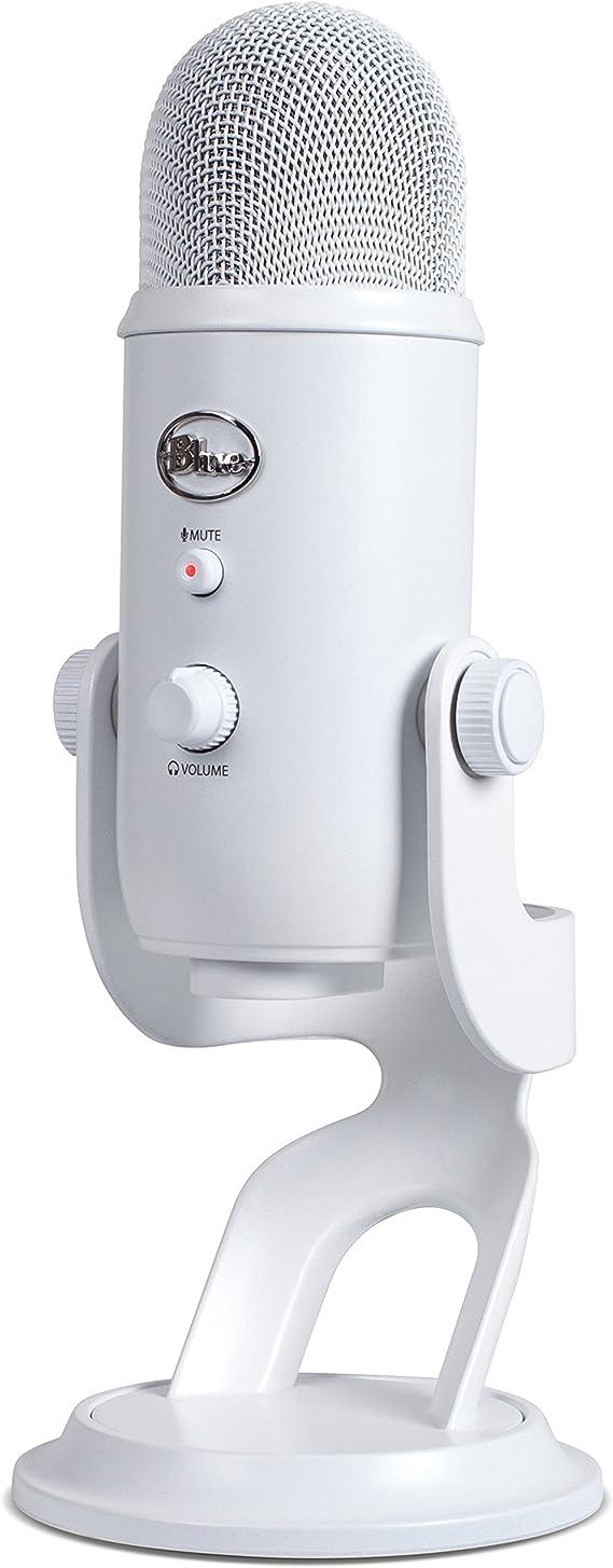 Blue Microphones Yeti Usb Mikrofon Für Aufnahme Und Streaming Auf Pc Und Mac Verstellbares Stativ Plug Und Play Weiß Musikinstrumente