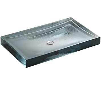 Kohler K 2369 B11 Antilia Wading Pool Glass Countertop Bathroom Sink Ice