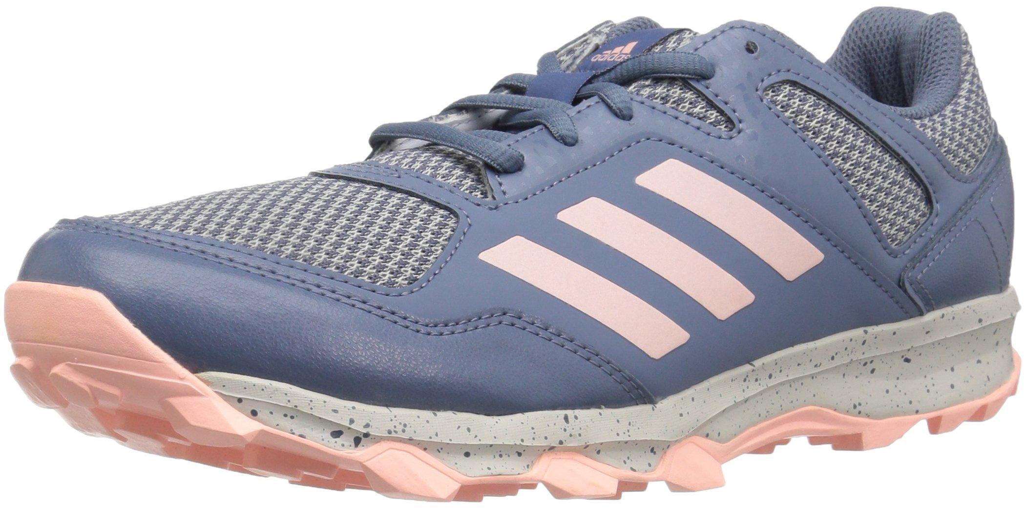 adidas Women's Fabela Rise Volleyball Shoe, Raw Steel/Clear Orange/Grey, 7 M US