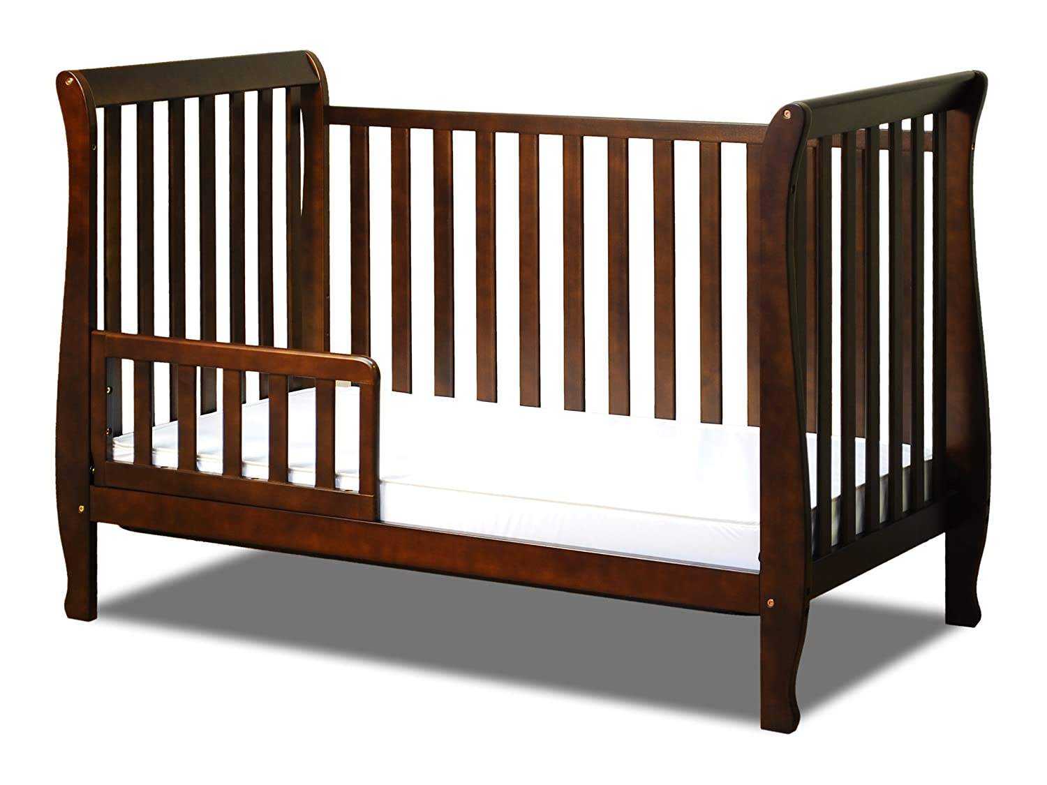 Amazon.com : Athena Naomi 4 In 1 Crib With Toddler Rail, Espresso : Toddler  Beds : Baby