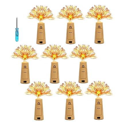 KINGTOP LED Botella Luces Luces de Cadena Botellas de Vino Luces Botella Mini Luces de Cadena