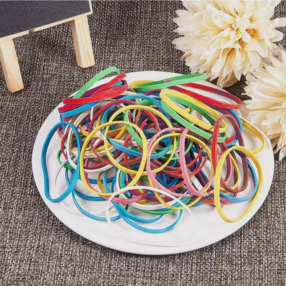 School and Home Moscare Colored Rubber Bands,Strong Elastic Band Stationery Document Organizing for Office