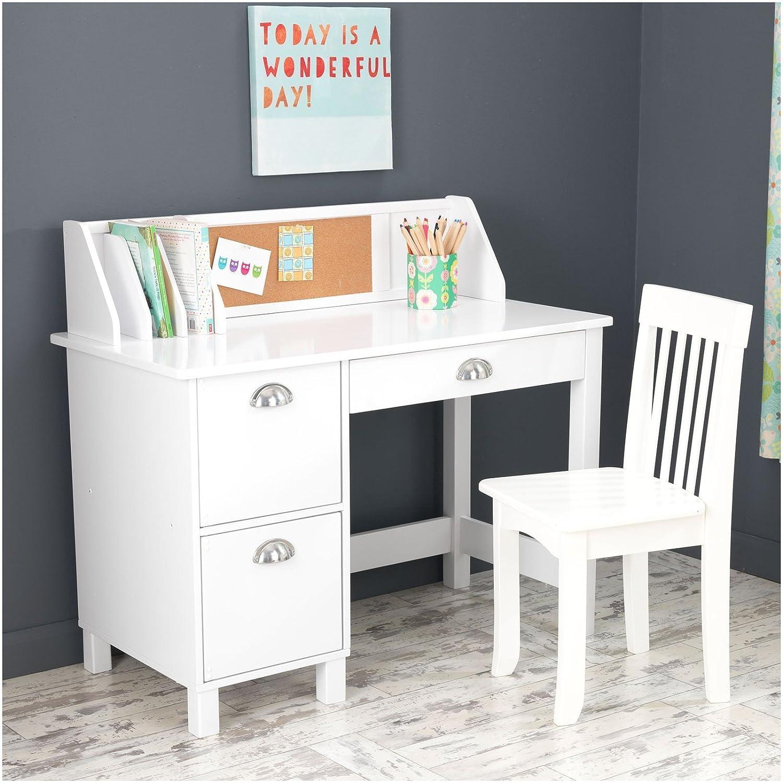 Amazon KidKraft Kids Study Desk with Chair White Toys & Games