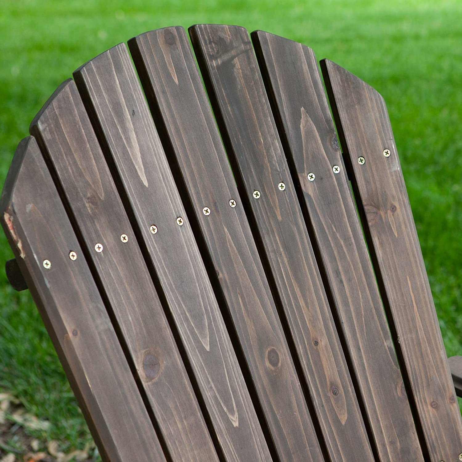 Amazon.com : Coral Coast Big Daddy Coral Coast Reclining Adirondack Chair  With Pull Out Ottoman  Dark, Brown, Wood, 31W X 62D X 32H Inches : Patio  Chair ...