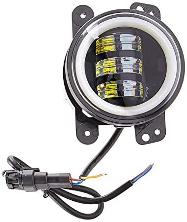Lantsun 4 Inch 60W CREE LED Fog Lights Halo Ring Angel Eyes for Jeep  Wrangler 97-16 JK TJ LJ ATV (Pack of 2) L023R 2 Yr Warranty