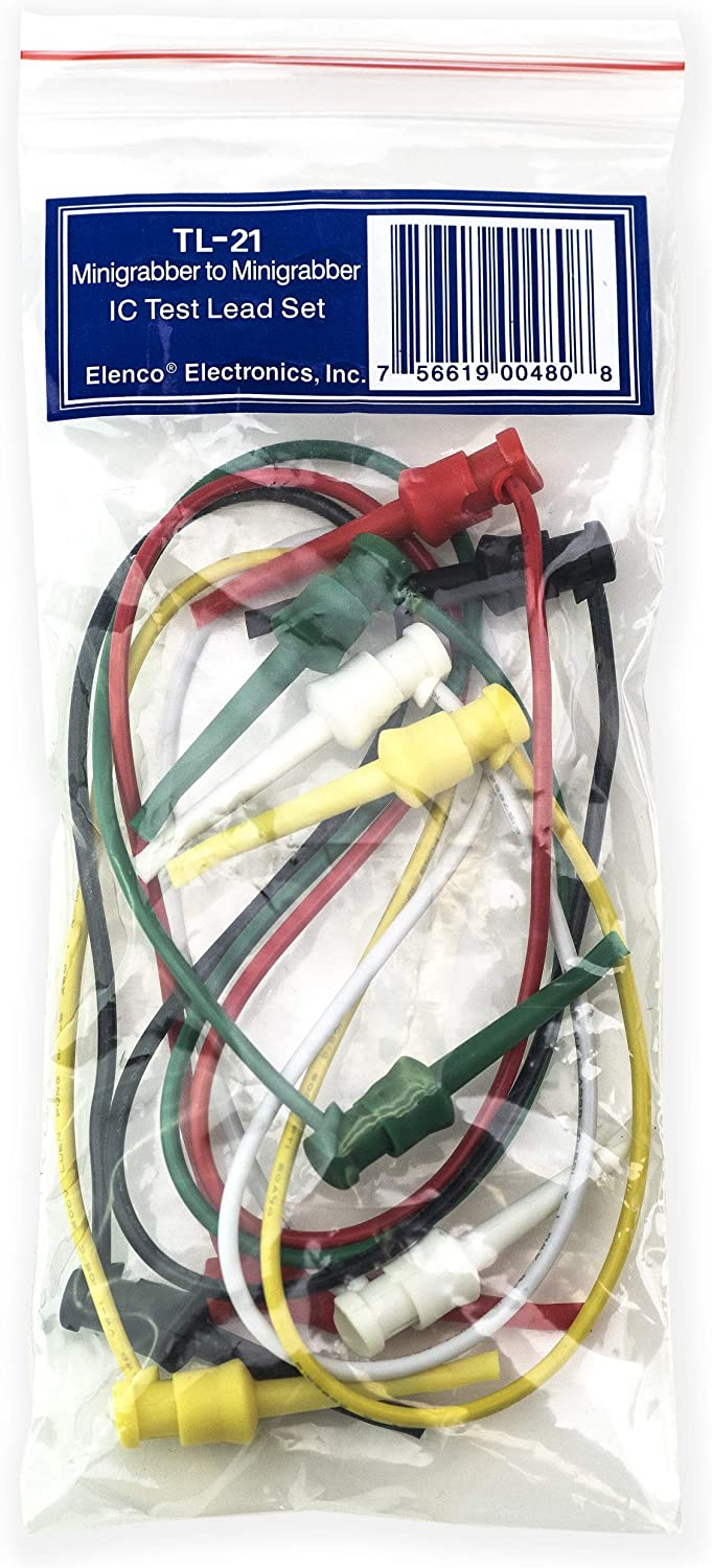 5 pieces Test Leads MINI GRABBER-RED