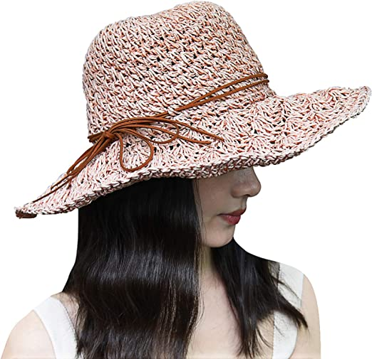 Ladies Packable Sun Hat Floppy 70/'s Style Adjustable Size Extra Large Brim 10cm