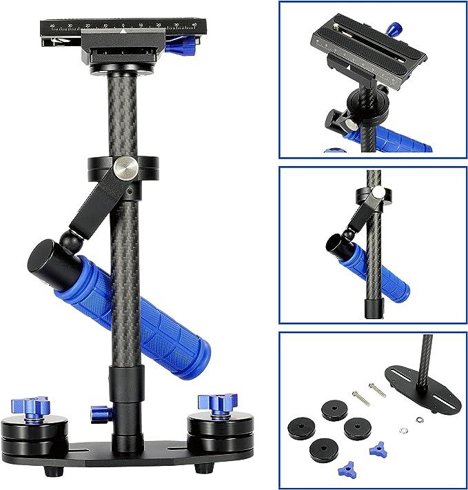 Morros Mini Carbon Fiber Handheld cámara Steadycam Estabilizador ...