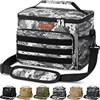 Insulated Lunch Box for Men Women - Leakproof Reusable Lunch Bag with MOLLE Webbing for Office Work School Picnic Gym…