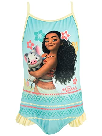 42c5477d5ffcc Disney Princess Girls Moana Swimsuit Ages 2 to 12 Years: Amazon.co.uk:  Clothing