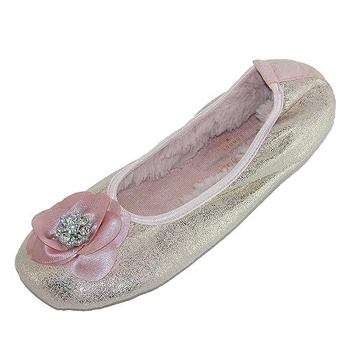 Olympia Blanco Zapatillas por Pretty You Londres, Color Rosa, Talla 40 EU-42 EU/Large: Amazon.es: Zapatos y complementos