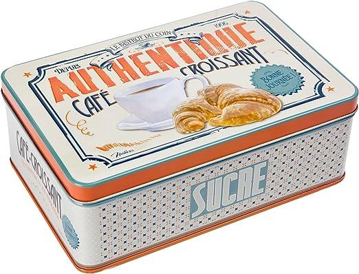 Natives 411280 café-Croissant – Caja metálica para azúcar 20 x 13 ...