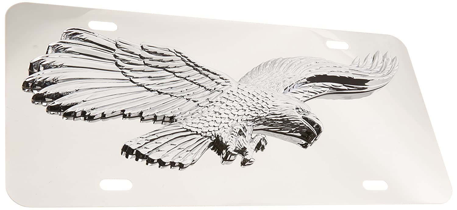 Pilot Automotive LP-208 Stainless Steel 3-D Eagle License Plate (ABS Plastic Decal)