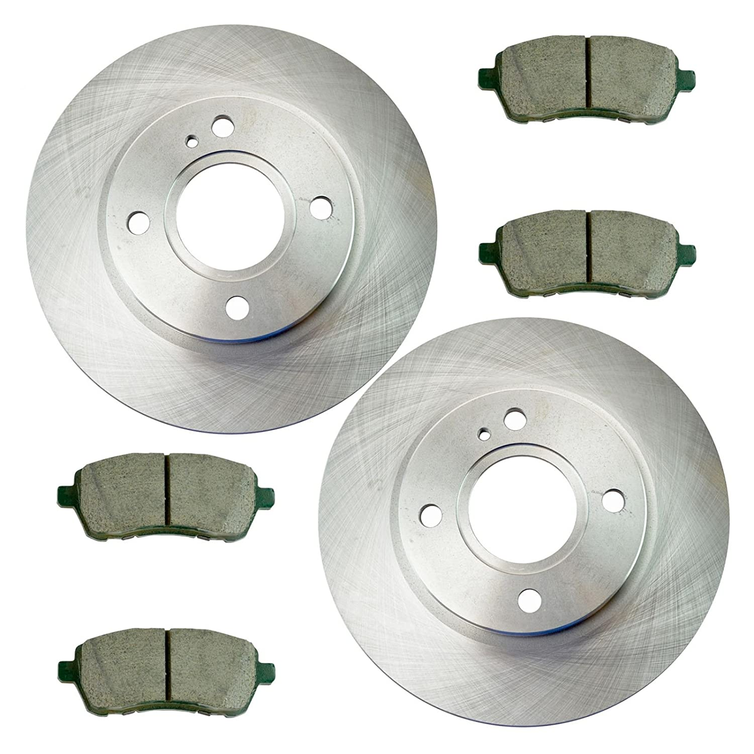 Amazon.com: Front Disc Brake Rotor & Posi Ceramic Pad Kit for Ford Fiesta: Automotive
