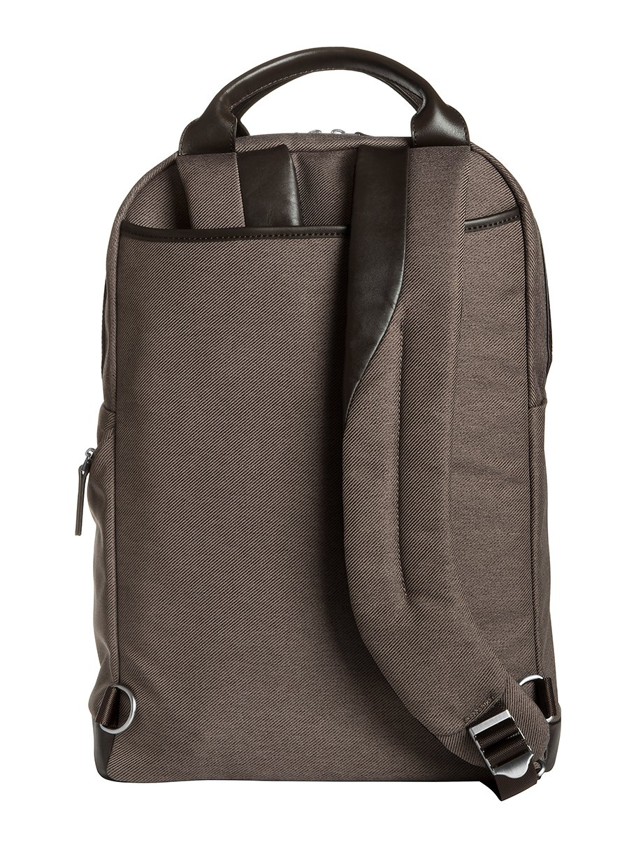 Brenthaven Medina 15.4-Inch Laptop Backpack | Polyester & Leather, Zippered Pockets, Tuck Away Straps | Fits 15.4 Inch Laptop, Chromebook, Macbook, Microsoft Surface by Brenthaven (Image #3)