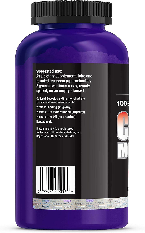 Amazon Com Ultimate Nutrition Creatine Monohydrate Biovolumizing 300 G 300 G Health Personal Care