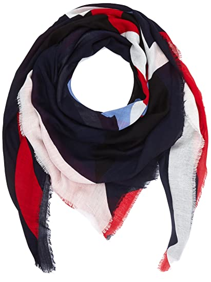 Womens Stripy Tommy Scarf, Blue (Tommy Navy 413), (Manufacturer Size: One Size) Tommy Hilfiger