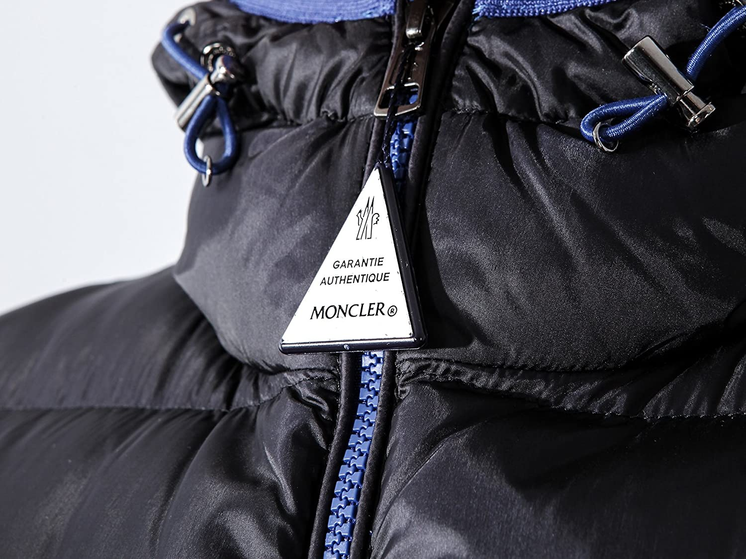Wiberlux Moncler Chauvon Men's Padded Zip-Front Jacket With Hood - Blue -: Amazon.co.uk: Clothing