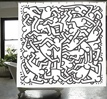 Vorhang Fur Die Dusche Keith Haring Shower Curtain