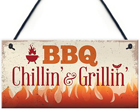 Outdoor Grillin Sign-Chillin Sign-Father/'s Day