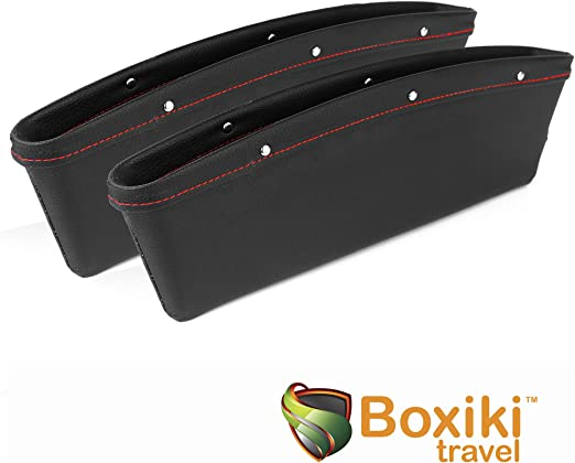 for Front Seats Made of Artificial Leather Organizer for car Seats Universal car seat Organizer EDEST Drop Stop Car Gap Filler Set of 2 Items