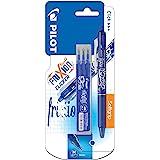 Pilot Pen - Penna roller a scatto FriXion Clicker a inchiostro gel cancellabile, 3 refill inclusi nella confezione, blu