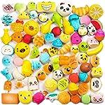 WATINC Random 30pcs Squeeze Toys, Cream Scented Slow Rising Kawaii Squeeze