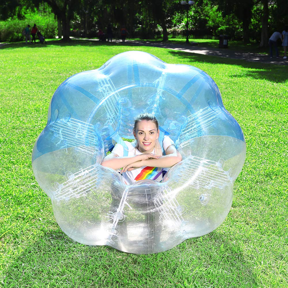 Inflatable Bumper Balls for Adults/Kids, Human Hamster Ball 5 ft, Zorb Bubble Soccer Balls W/Bag